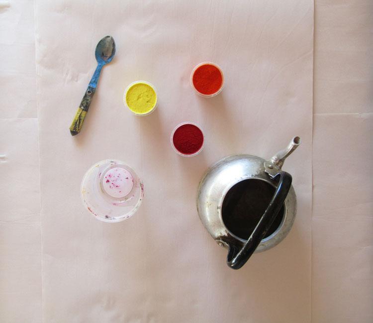 Cómo estampar tela - teñido