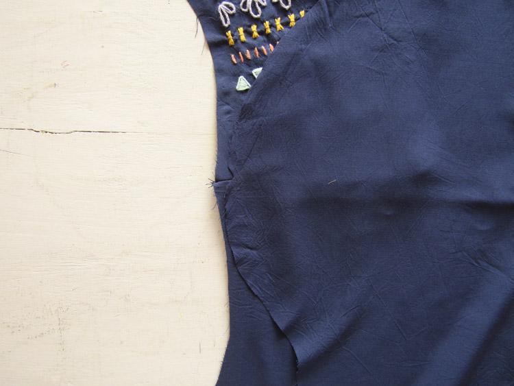 Blusa boho bordada paso 6