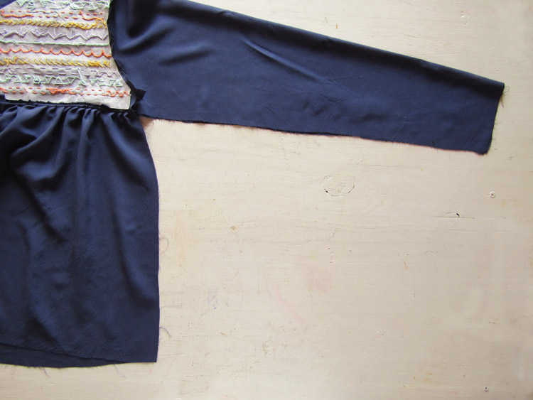 Blusa boho bordada paso 7