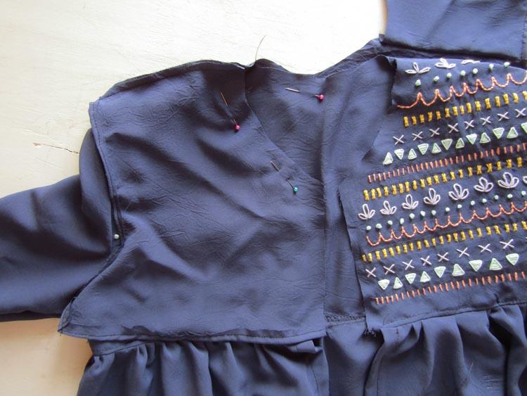 Blusa boho bordada paso 8