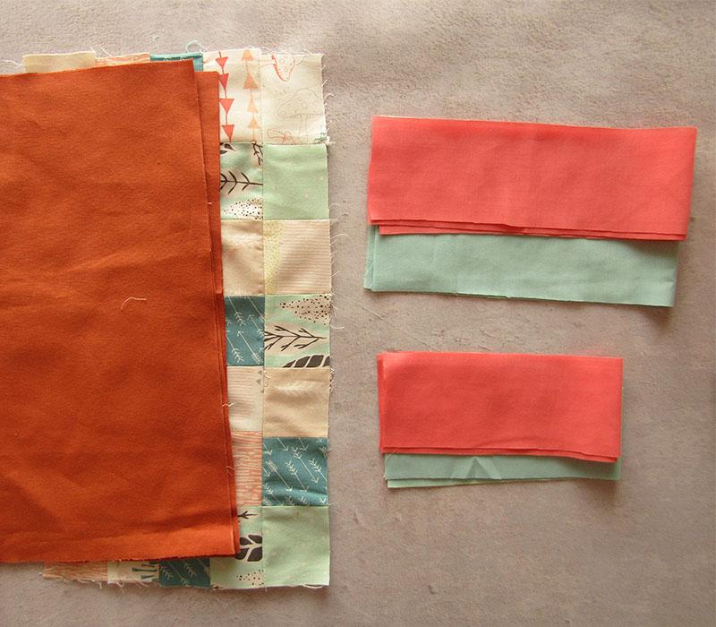 Piezas cortadas mantel individual con esquinas diagonales