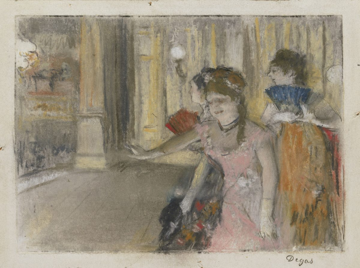 Hilaire-Germain-Edgar Degas. Singers on the Stage (Café-Concert). 1877–79
