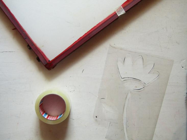 Serigrafía paso 3 (frente del bastidor)