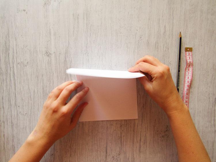 Cómo hacer un contenedor de tela paso 1