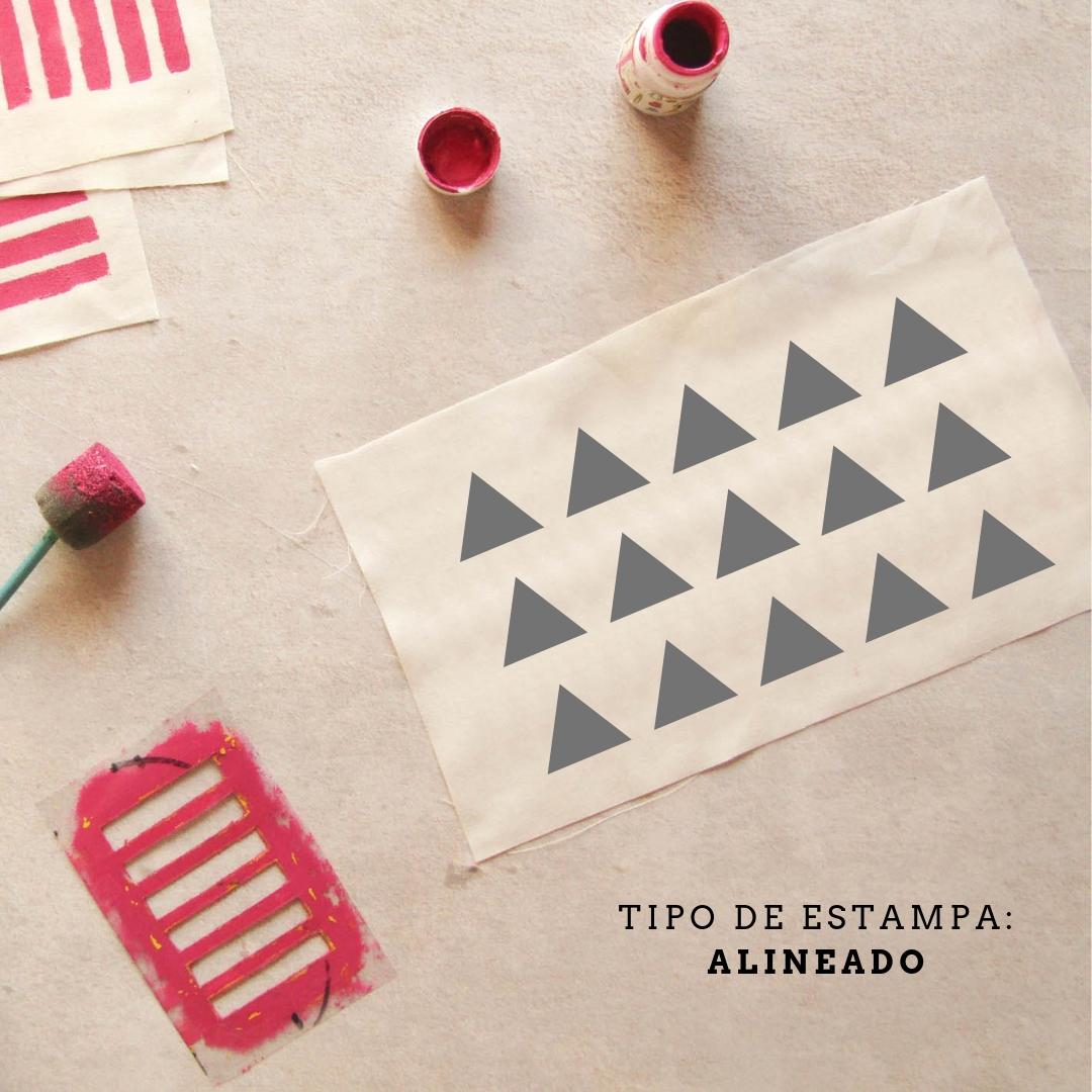 Diseño de estampado: alineado