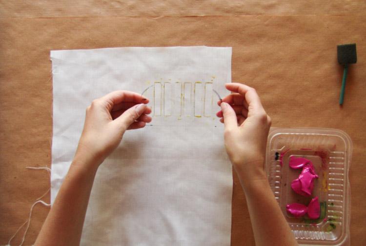 Diseño de estampado con stencil paso 1
