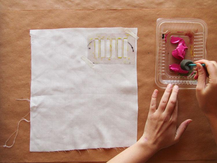 Diseño de estampado con stencil paso 2