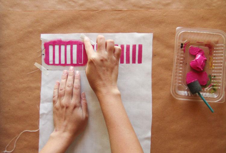 Diseño de estampado con stencil paso 3