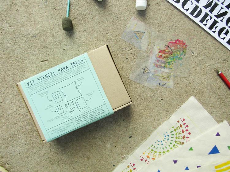 Kit stencil para telas de algodón