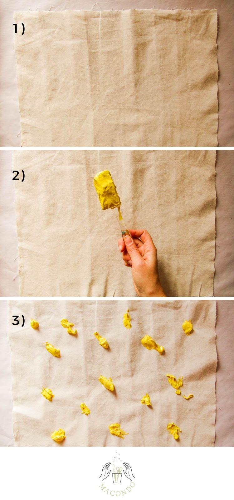 Técnica de estampado: barrido - Paso 1, 2 y 3