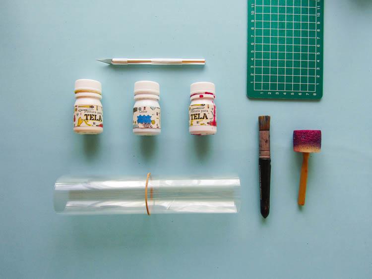 Estampado de telas de algodón (elementos necesarios)
