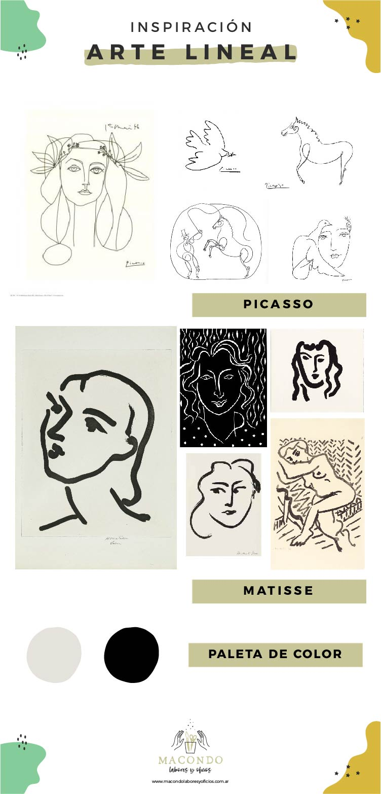 Inspiración arte lineal (Picasso y Matisse))