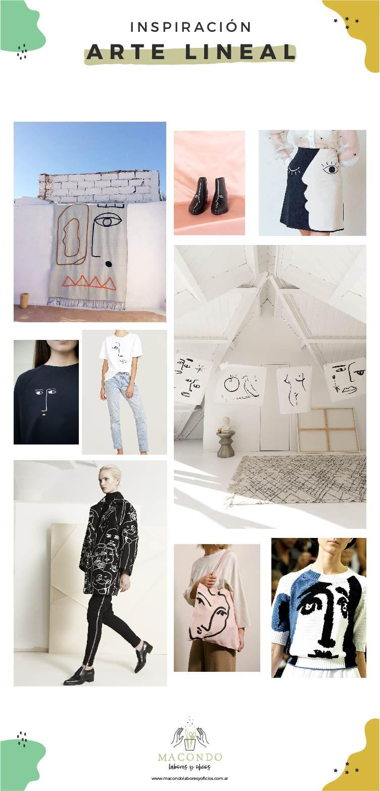 Inspiración arte lineal (Picasso Matisse)
