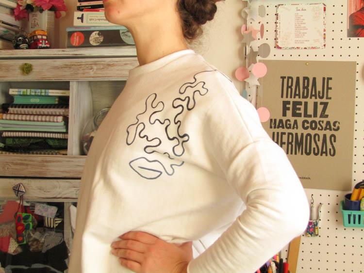 Sweater arte lineal sublimación DIY