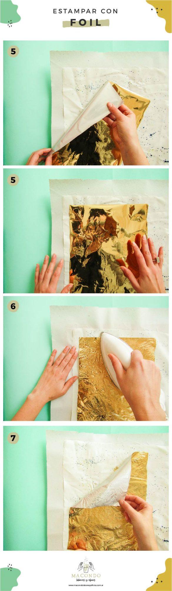 Aplicar dorado y metalizados en estampas
