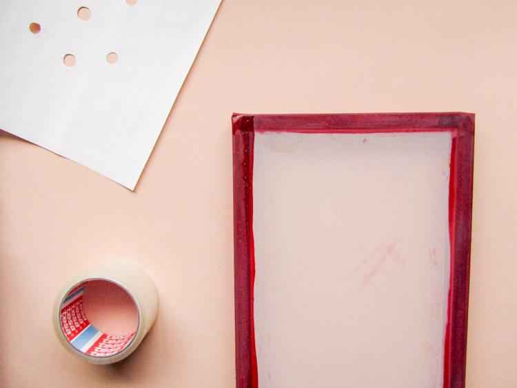 Cómo estampar con serigrafía - Paso 1