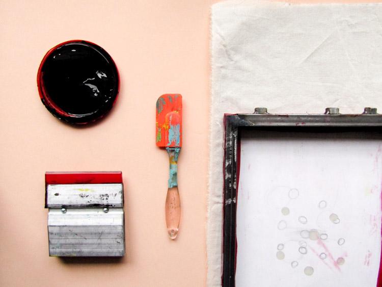 Cómo estampar con serigrafía - Paso 2