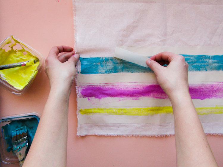Como estampar rayas sobre tela - Paso 7