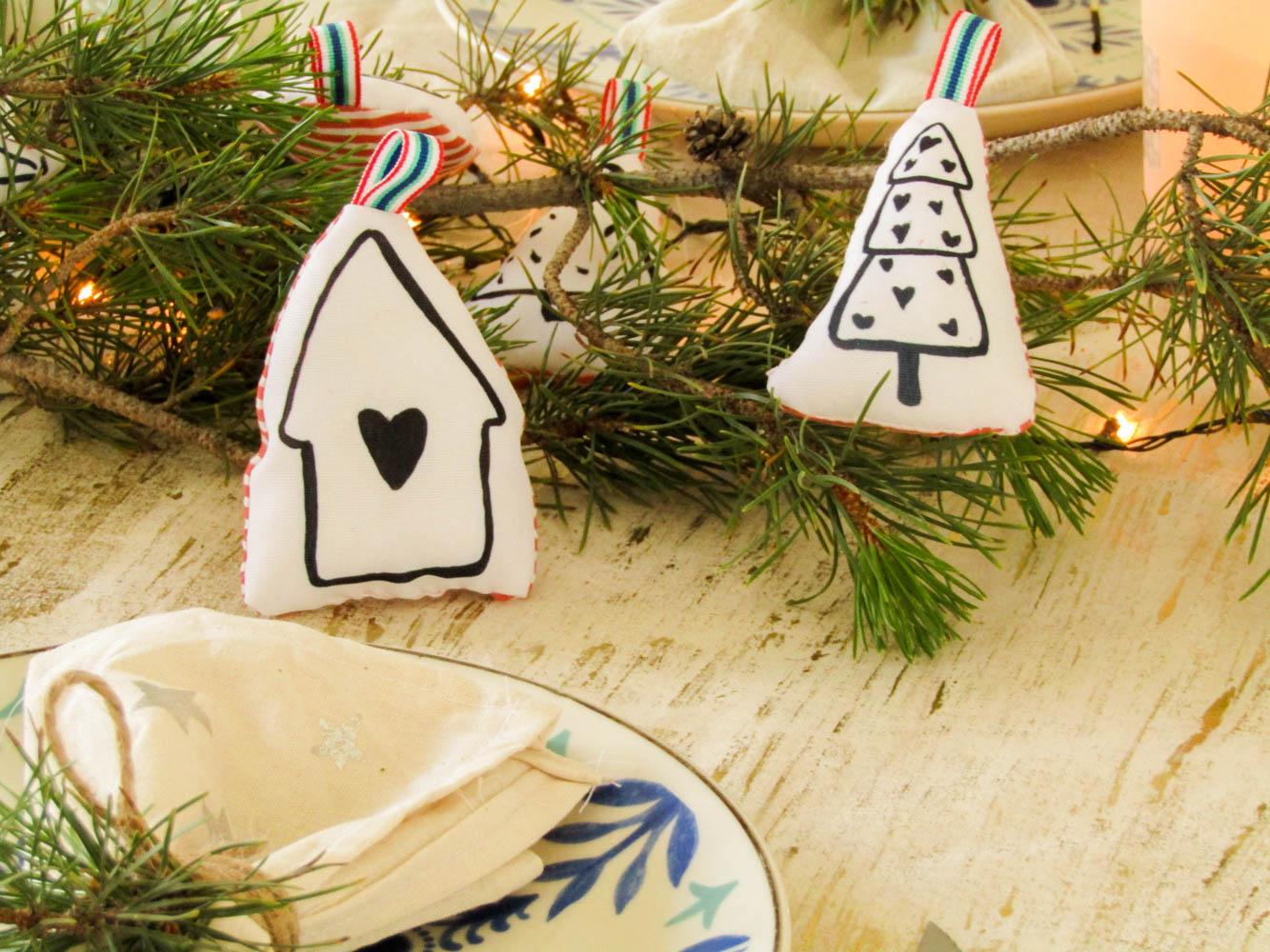 Cómo hacer adornos navideños de tela