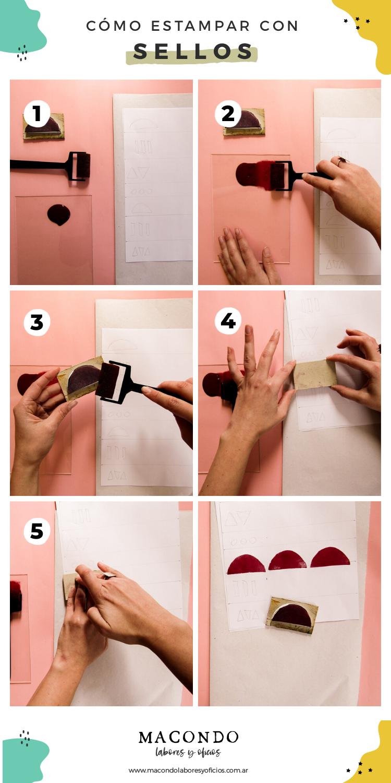 Cómo estampar tela con sellos