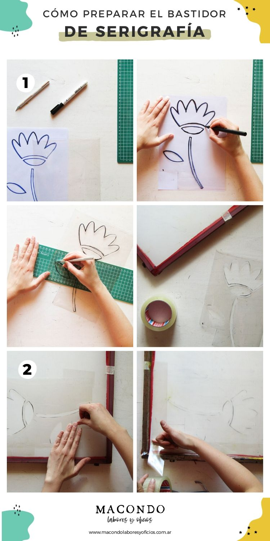 Cómo preparar el bastidor para serigrafía