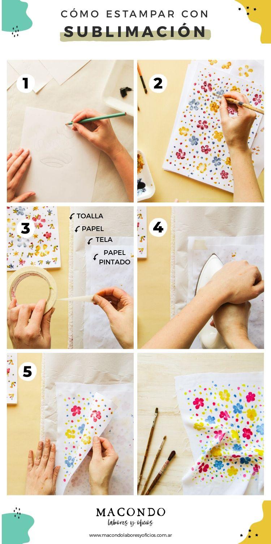 Cómo estampar tela con sublimación - Paso a paso