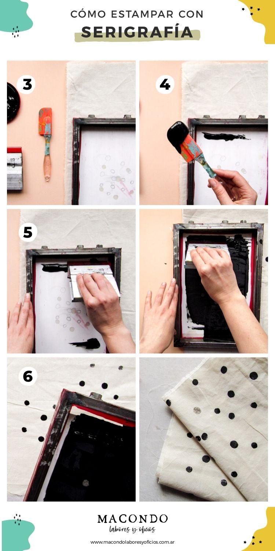 Cómo estampar tela con serigrafía