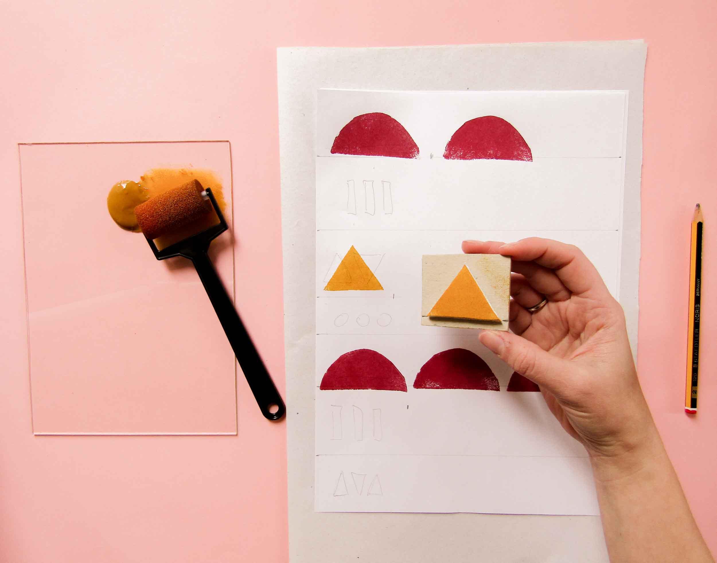 Cómo crear sellos y estampar telas
