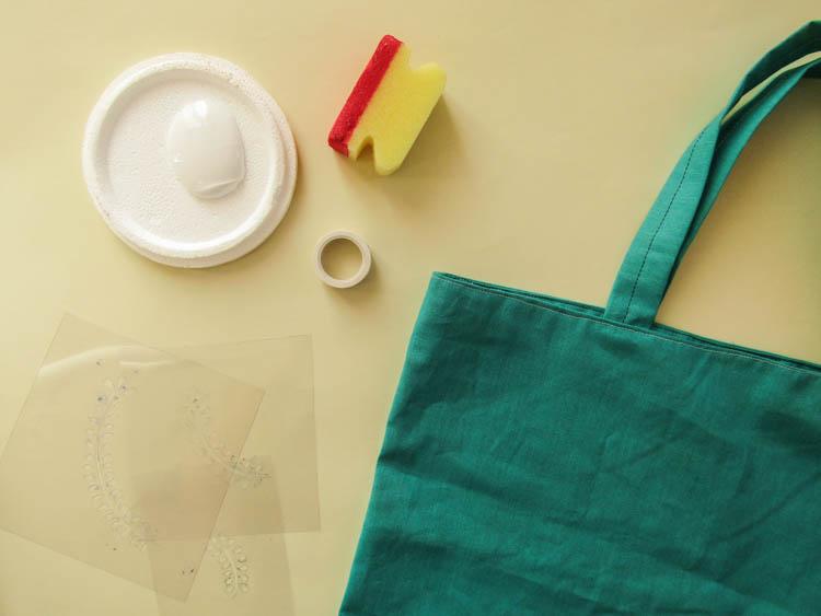 Cómo estampar tela con stencil - Materiales