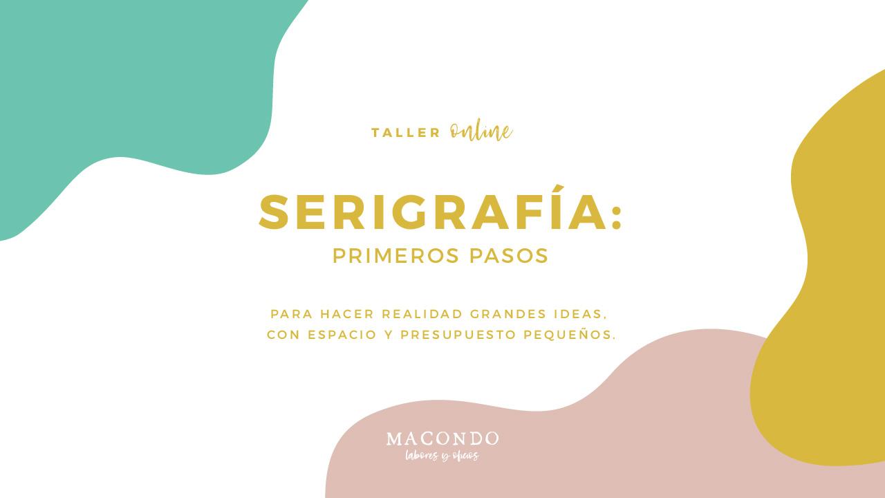 Taller de serigrafía online