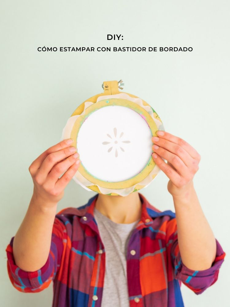 Tutorial: como estampar con bastidor de bordado