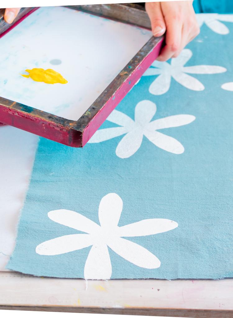 Serigrafia casera - Utilizar color blanco